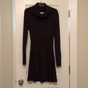 XL Dark Gray Long Sleeve Calvin Klein Dress